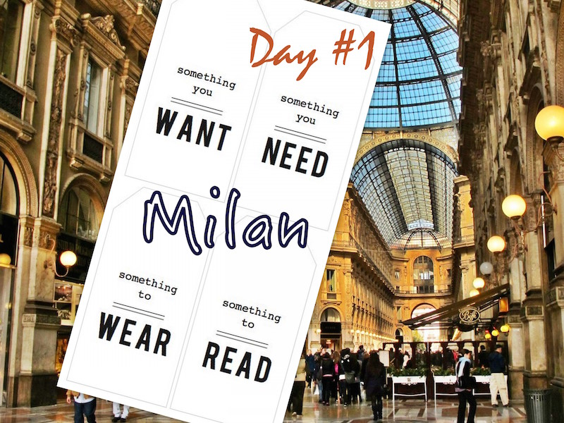 Ciao Bella! Milan Day 1COVER